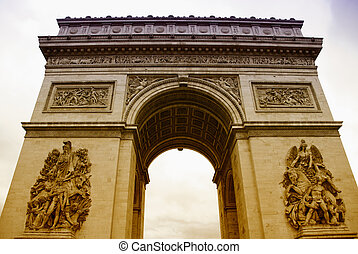 Arc de Triomphe with White Background