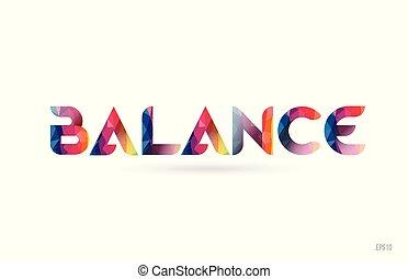 arc-en-ciel, équilibre, mot, coloré, texte, conception, logo, suitable