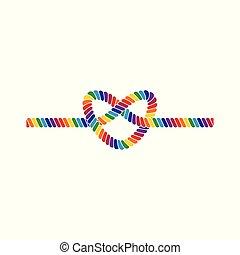 arc-en-ciel a coloré, cadre, élément, corde, lgbt, conception, fierté, frontière