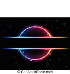 arc-en-ciel, cercle, frontière, swirls., scintillements