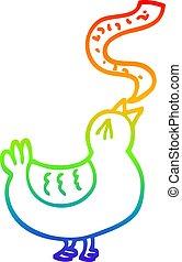 arc-en-ciel, chanson, gradient, dessin animé, dessin ligne, oiseau