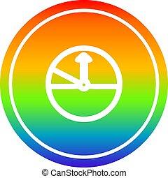 arc-en-ciel, compteur vitesse, spectre, circulaire