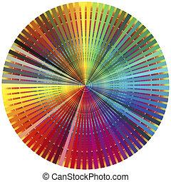arc-en-ciel, couleur, roue