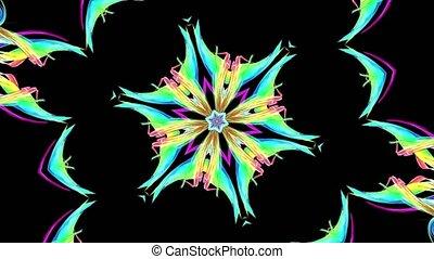 arc-en-ciel, fait boucle, brillant, coloré, lisser, mouvement, animation, seamless, raies, créatif, torsade, formation, clair, fond, kaléidoscope, circulaire, 9, 3d, rubans, circle., frisé