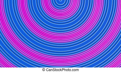 arc-en-ciel, fait boucle, cyclically., 4k., animation., mouvement, lisser, seamless, courbes, multicolore, résumé, simple, clair, 2, fond, dessin animé, créatif, géométrie, style., raies, 3d