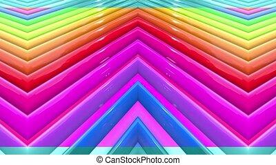 arc-en-ciel, fait boucle, cyclically, 4k., résumé, mouvement, lisser, seamless, raies, multicolore, géométrie, simple, clair, 2, dessin animé, fond, ligne, créatif, style., animation., 3d
