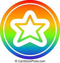 arc-en-ciel, forme, étoile, spectre