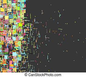 arc-en-ciel, fragmenté, couleur, modèle, résumé, toile de fond