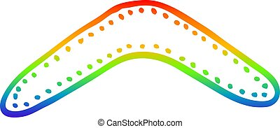 arc-en-ciel, gradient, dessin animé, boomerang, dessin ligne
