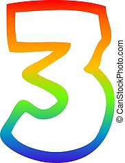 arc-en-ciel, gradient, nombre, dessin, 3, ligne, dessin animé