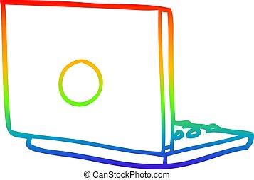 arc-en-ciel, gradient, ordinateur portatif, dessin ligne