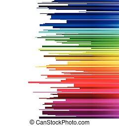 arc-en-ciel, gradient, résumé, infographics, raies, fond, coupures, horizontal, blanc