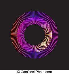 arc-en-ciel, gradient, sunburst, cercle, vecteur