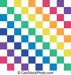 arc-en-ciel, illustration., border., résumé, object., arrière-plan., vecteur, white., rays., colors.