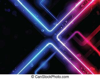 arc-en-ciel, laser, néon, lignes, fond