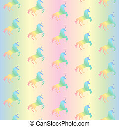 arc-en-ciel, modèle pastel, unicorns, seamless, illustration, arrière-plan., vecteur, texture, licorne