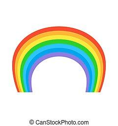 arc-en-ciel, naturel, coloré, isolated., arc, fond, blanc