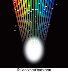 arc-en-ciel, projecteur, lumière