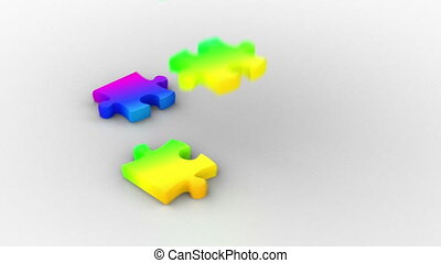 arc-en-ciel, puzzle, solution