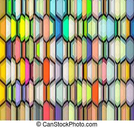 arc-en-ciel, résumé, fragmenté, couleur, toile de fond