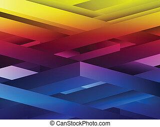 arc-en-ciel, résumé, lignes, géométrique, arrière-plan.