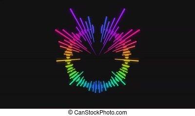 arc-en-ciel, spectre, vidéo, couleurs, audio