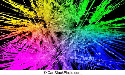 arc-en-ciel, tout, lent, trails., fond, 17, peintures, feux artifice, motion., juteux, isolé, couleurs, air, noir, poudre, ink., explosion, créatif, coloré, ou, gentil