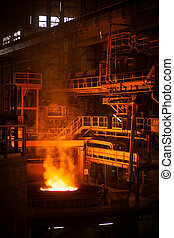 arc furnace - Modern metallurgical plant in Dnipropetrovsk...