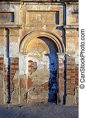 arc, immured, ancien, portail