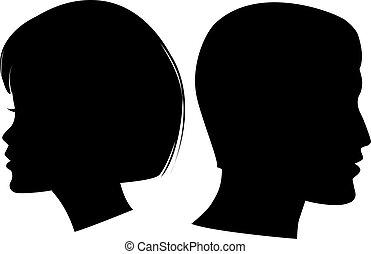 arc, nő, ember