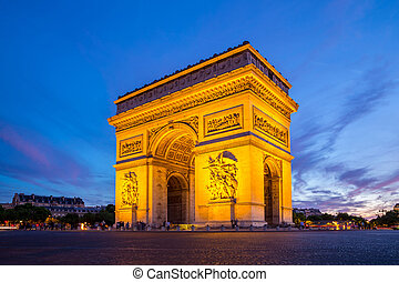 Arc of Triomphe Paris - Arc of Triomphe Champs Elysees Paris...