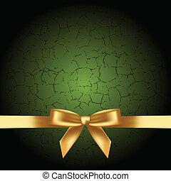 arc, or, fond, vert