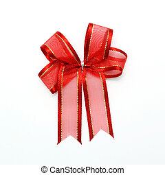 arc rouge, blanc, fond