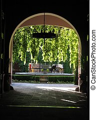 Arc - This picture shows an arc at the entrance of the...