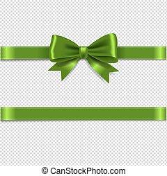 arc, vert, isolé, fond, transparent