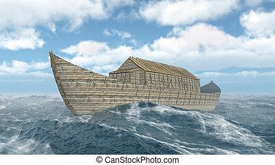 arca, noah's, océano tempestuoso