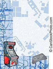 Arcade background - Creative design of arcade background