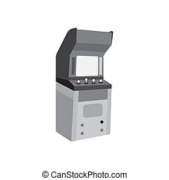 Arcade cabinet black icon vector design illustration