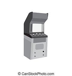 Arcade cabinet black icon vector design illustration