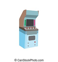 Arcade cabinet flat icon vector design illustration
