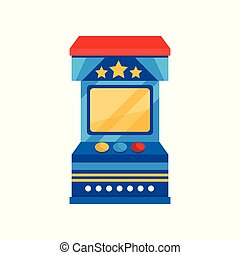 Arcade game vending machine vector Illustration on a white background
