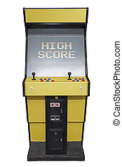 Arcade High Score - Vintage video game with High Score...