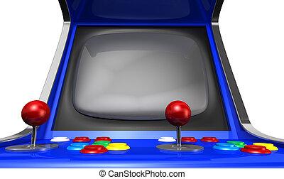 Arcade Machine Closeup - A vintage arcade game machine with ...