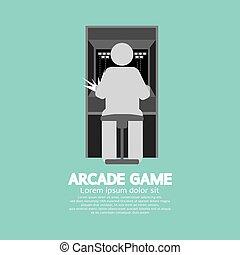 Arcade Machine Player.