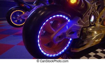 arcade, -, néon, machine, jeu, lumière, hd
