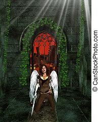 Arch Angel Inside Sanctuary - Arch angel inside sancutary...