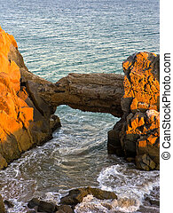 Arch at Point Mugu, CA - Colorful Evening at Point Mugu Arch...