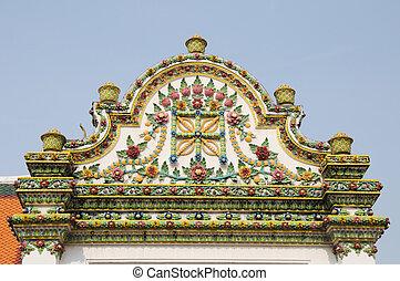 Arch beautiful at Wat Pho in Bangkok