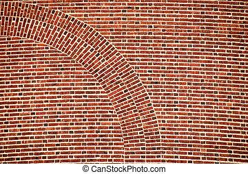 arch brick wall