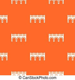 Arch bridge pattern vector orange